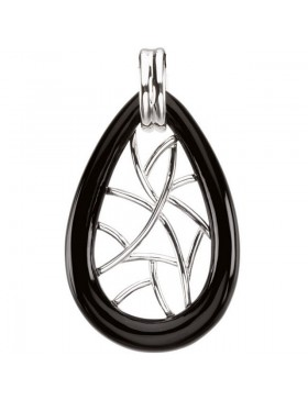 Onyx Lattice Pendant Necklace
