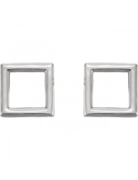 Square Earrings 14K Yellow Gold