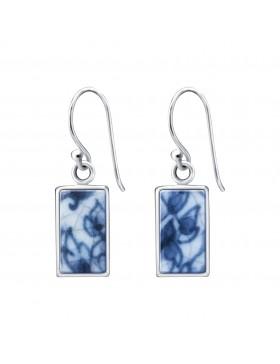 Fine China Porcelain Rectangle Earrings