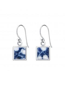 Fine China Porcelain Square Earrings