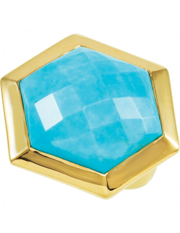 Missoma® Checkerboard 18K Vermeil Turquoise Cocktail Ring