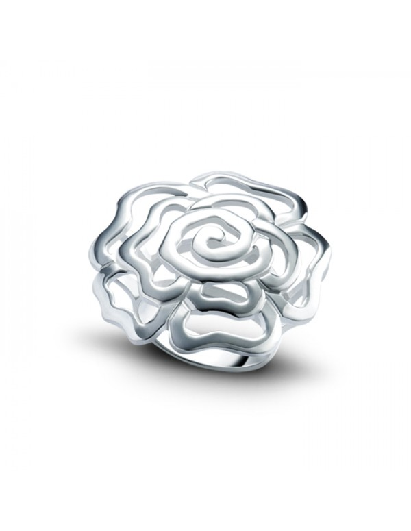 Sterling Silver Chinese Rose Ring