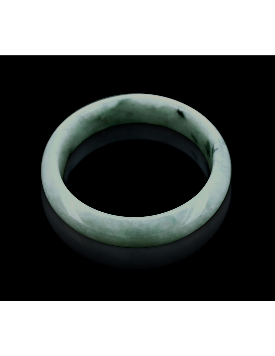 Natural Jadeite Type A-Jade Bangle (JB1012SM)