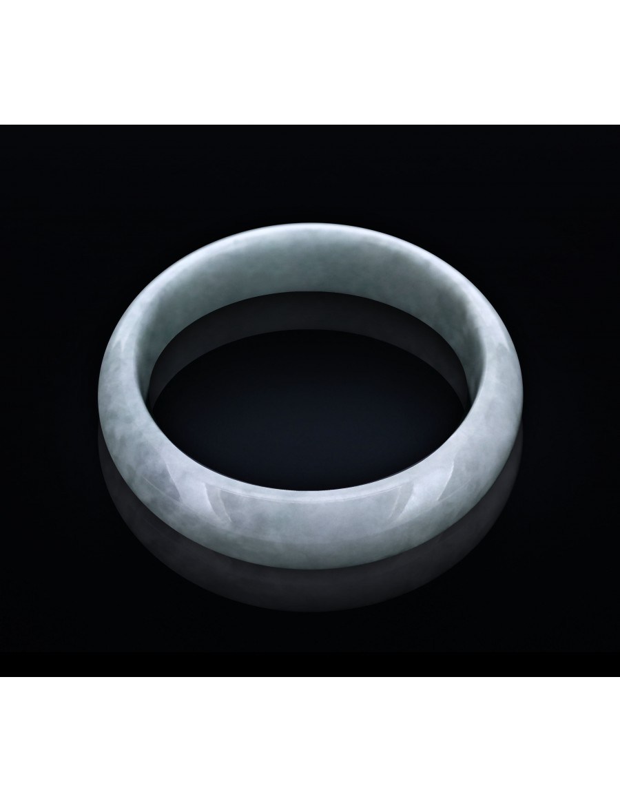 Natural Jadeite Type A-Jade Bangle (JB1011SM)