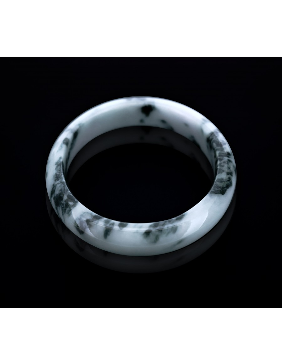 Natural Jadeite Type A-Jade Bangle (JB0014SM)