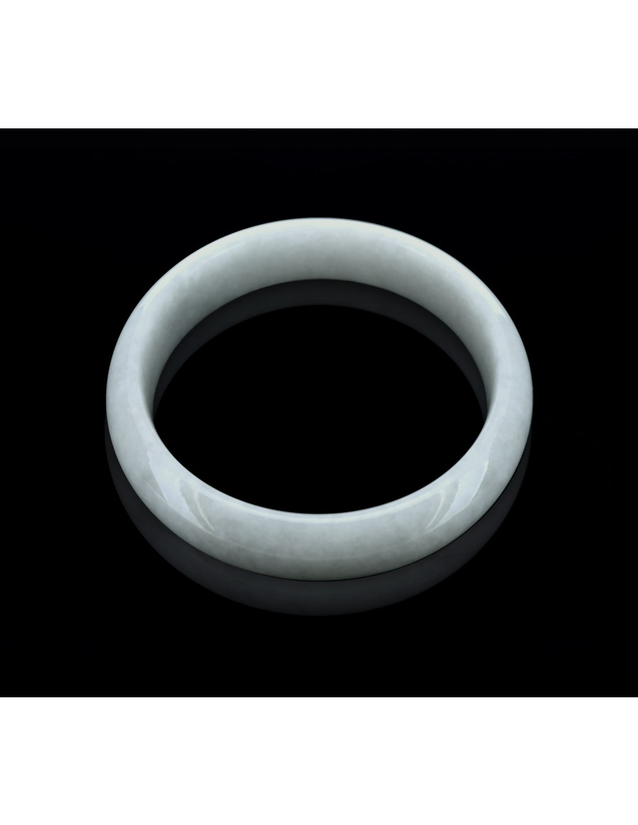 Natural Jadeite Type A-Jade Bangle (JB0006SM)