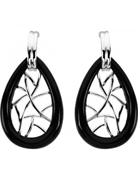 Onyx Lattice Earrings