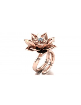 Lotus 1 Realism Ring in 14K Rose Gold