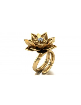 Lotus 1 Realism Ring in 14K Yellow Gold