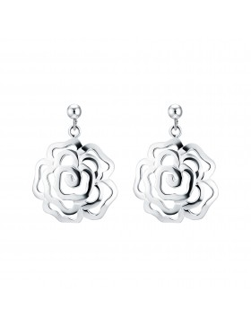 Chinese Rose Earrings with Studs