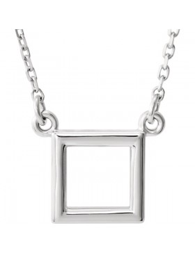 "Square Pendant 16.5"" Necklace"