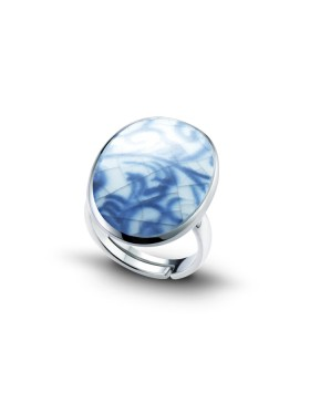 Fine China Porcelain Oval Ring