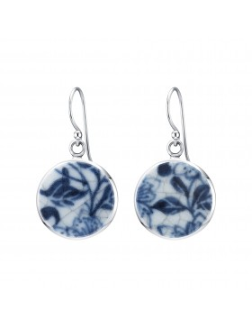 Fine China Porcelain Round Earrings 2
