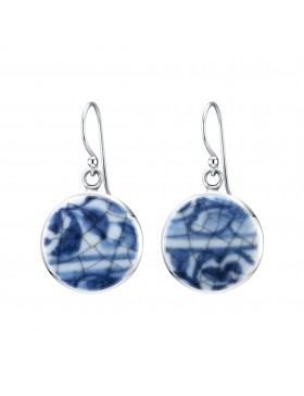 Fine China Porcelain Round Earrings