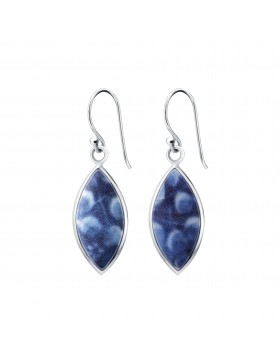 Fine China Porcelain Leaf Shape Earrings