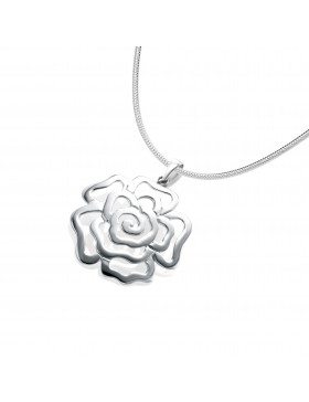 Sterling Silver Chinese Rose Pendant