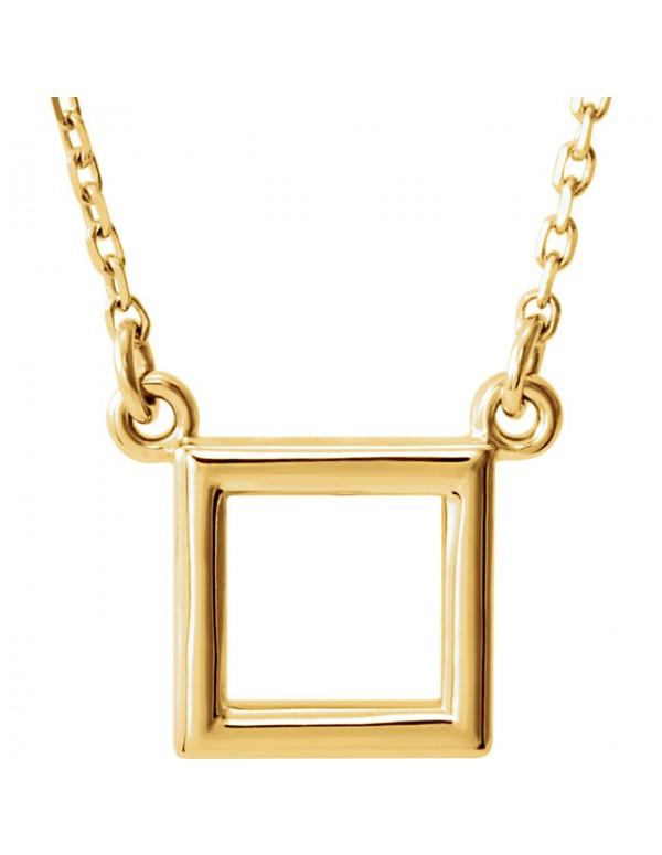 "Square Pendant 16.5"" Necklace"