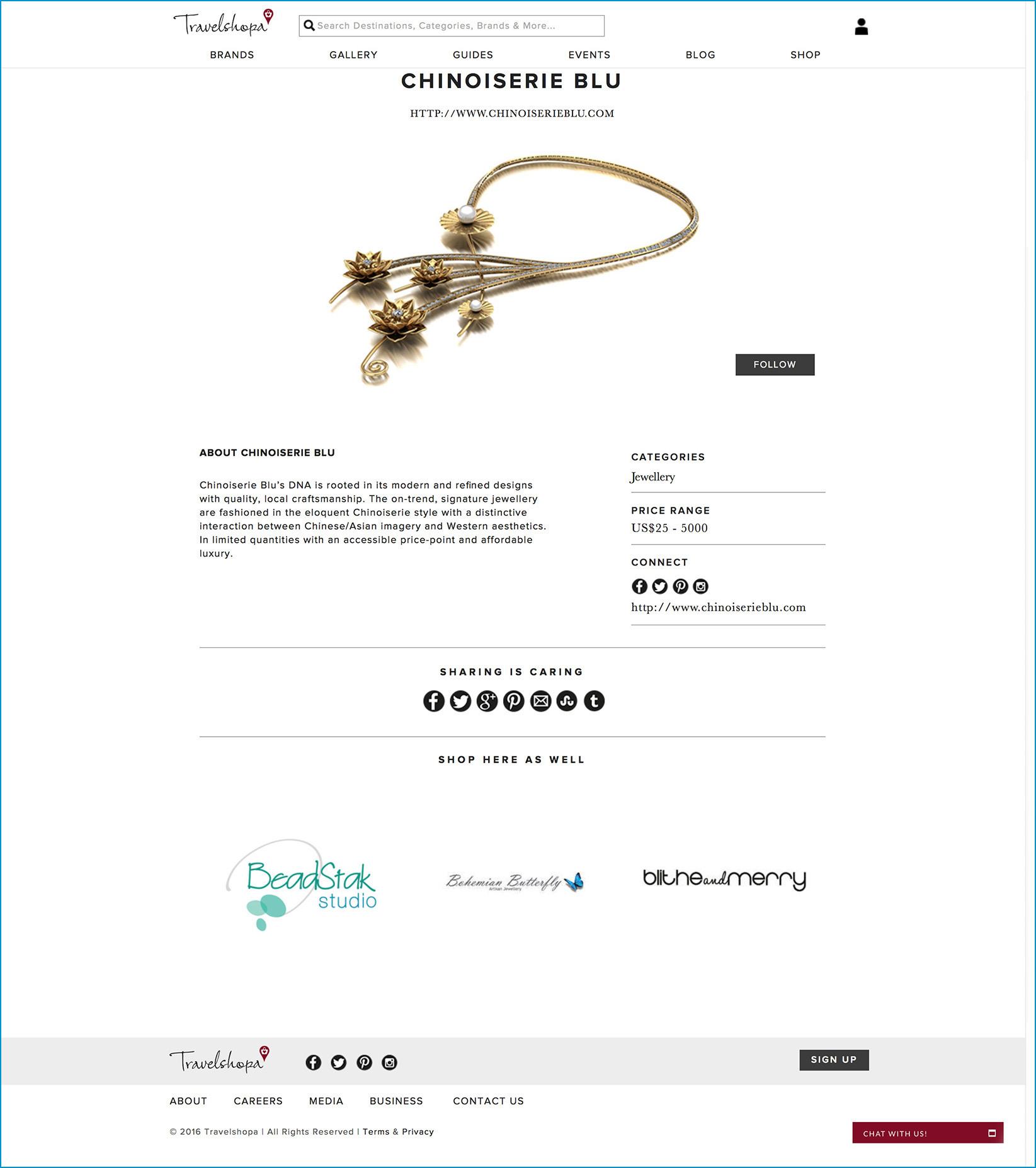 2016.12.01 Chinoiserie Blu travelshopa.com Media Coverage