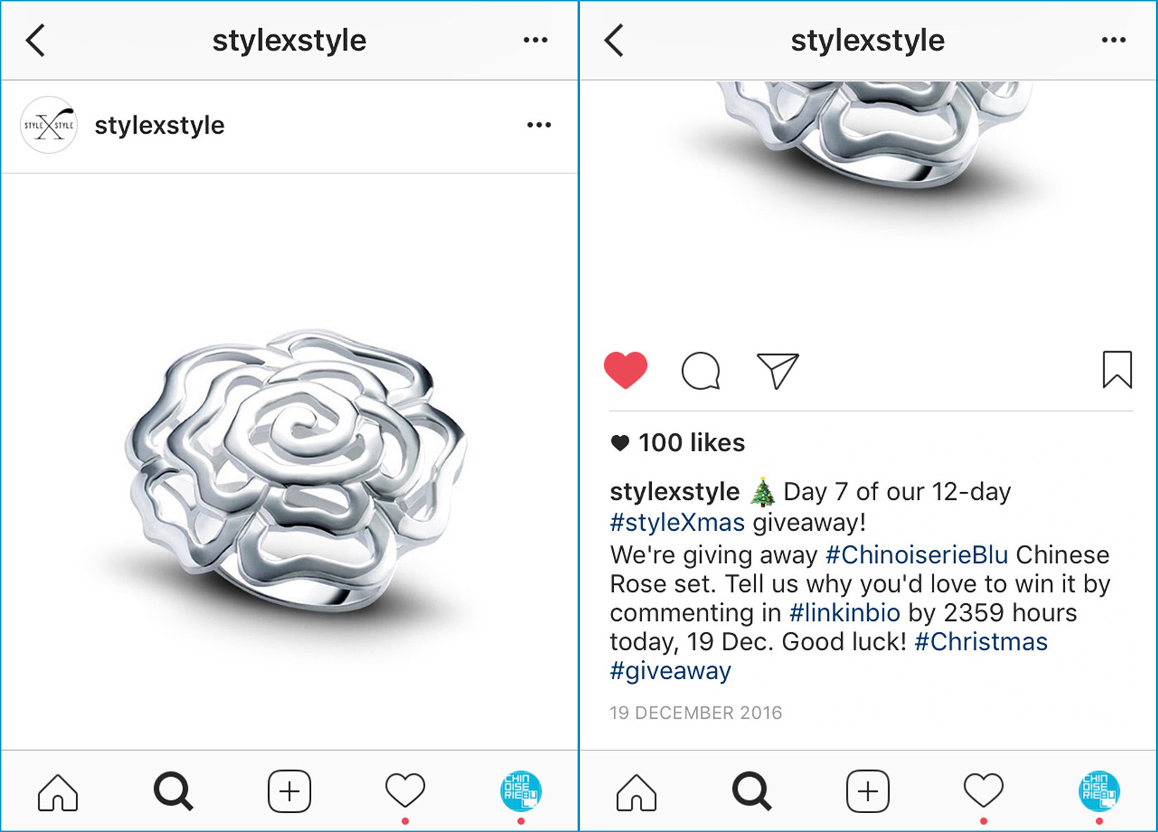 CBLU styleXstyle instagram-ipad Chinese Rose 12D Christmas Giveaway 2016.12.19