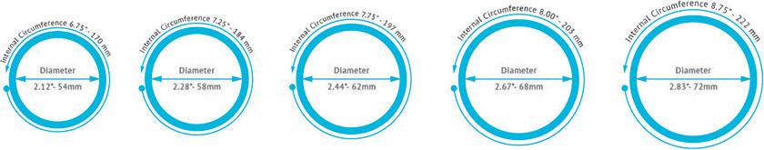 bangle sizes chart