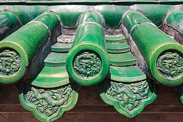 chinese-green-glazed-roof-tiles-details