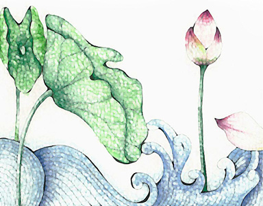 lotus watercolor painting 1