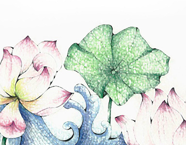 lotus watercolor painting 2