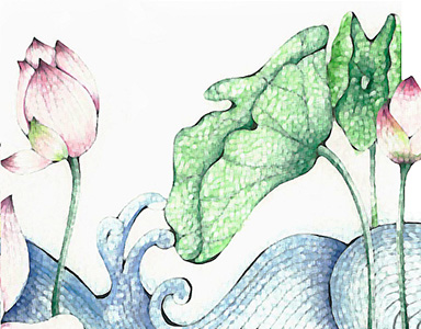 lotus watercolor painting 3