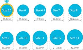 ring sizes chart